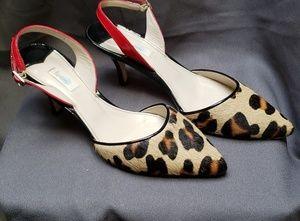 Wonderful Leopard Print Boden Heels with Red Black